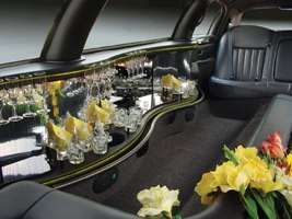 10 passednger limo interior